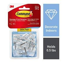 Command 4-packages of 0.5 lb Capacity Wire Toggle Hooks, 36 Hooks total, Small,  image 2