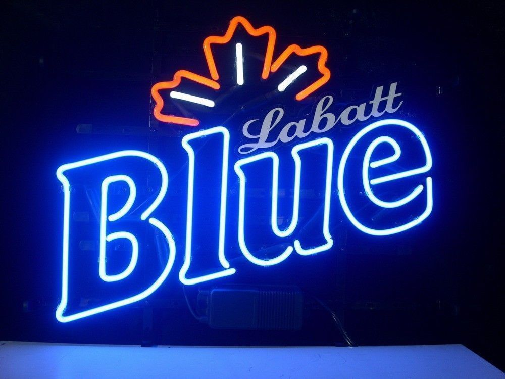 """Blue Labatt Maple Beer Lager Neon Sign 17""""x14"""" Free Ship From USA"""