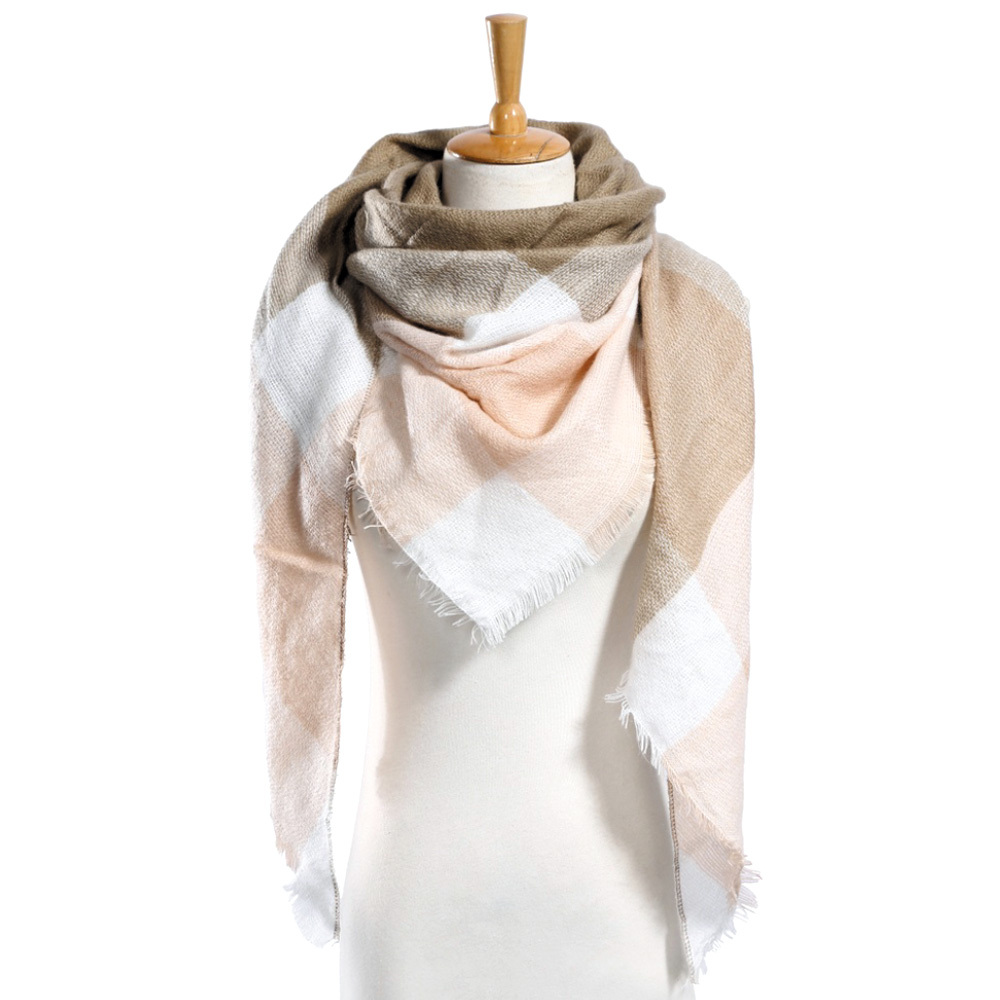 "Top quality Winter Scarf Plaid Scarf Designer Unisex Acrylic Basic Shawls Women"" image 5"