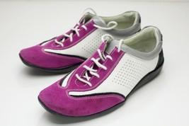 Vaneli 7.5 Pink White Lace Up Flats - $46.00