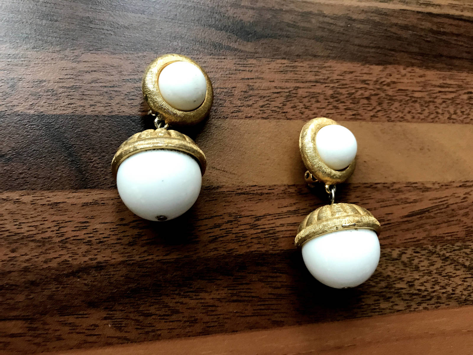80s RARE Givenchy Signed Statement Runway Dangle Drop Chunky Bib Clip On Earring