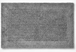 "Performance Grey Texture Bath Rug Threshold 23"" X 38"" 100% Cotton STORE NEW WTAG"