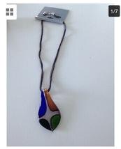 multicolored pendant necklace - $24.99