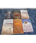 Lot 6 Philip Yancey Books HB What's So Amazing about Grace Prayer Rumors... - $24.81