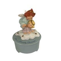 "Hallmark Musical Heavenly  Angel Music Box""Joy to the World""Porcelain  5″T - $24.99"