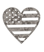 American Flag Heart - Plasma Cut Metal Shape USA26-M - $16.88