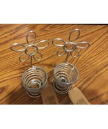 Flower wire egg cups NEW with tags - $10.00
