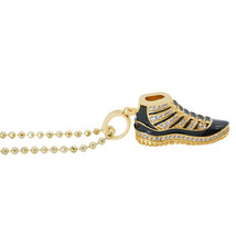 14k Gold Plated White Lab Diamonds Retro Jordan 11 Concord Pendant with ... - $39.99
