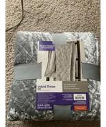 Silver Gray Velvet Throw Blanket Better Homes & Garden 50 X 60 New - $21.99