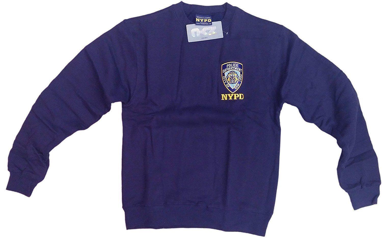 NYPD Mens Crewneck Sweatshirt Navy New York City Police Shirt NYC Gift PDNY - $29.98 - $37.99