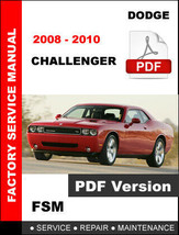 DODGE 2008 2009 2010 CHALLENGER SE SXT R/T SRT8 SERVICE REPAIR WORKSHOP ... - $14.95