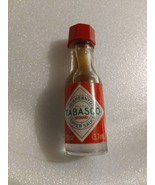Miniature Tabasco pepper sauce 1/8 fl oz vintage opened - $6.00