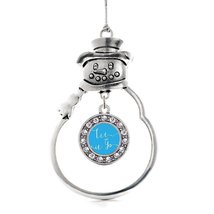 Inspired Silver Let it Go Circle Snowman Holiday Christmas Tree Ornament With Cr - $14.69