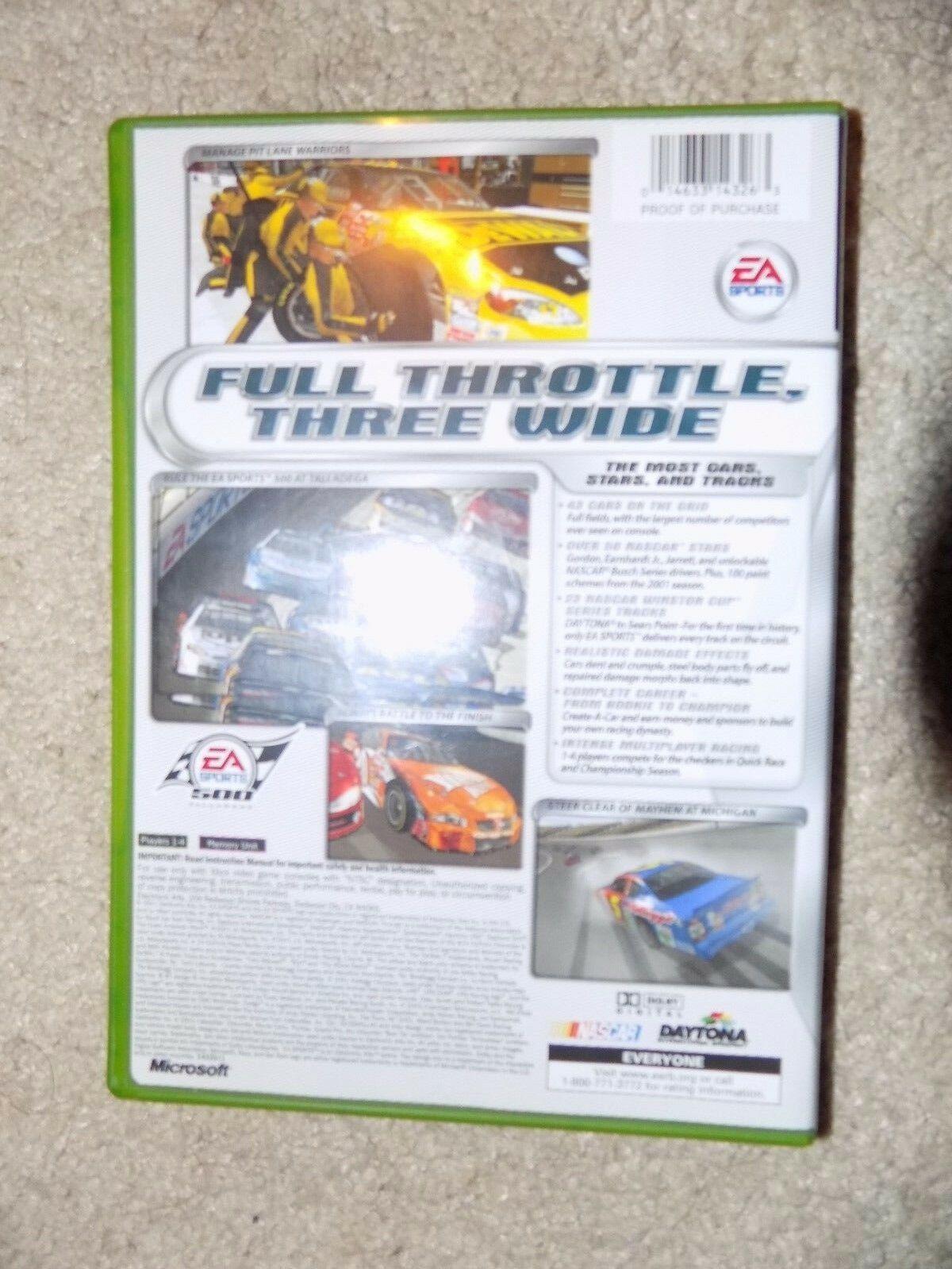 NASCAR Thunder 2002 (Microsoft Xbox, 2001) EUC