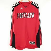 Portland Trailblazers NBA Adidas Climacool Long Sleeve Jersey Basketball... - $42.06