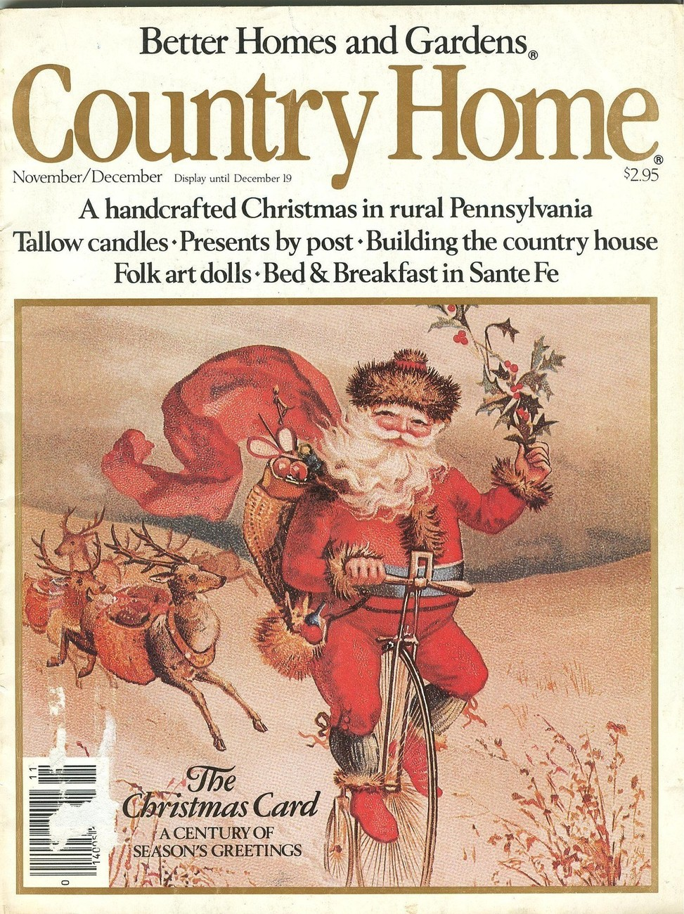 BH&G Country Home November/December 1984-Folk Art Dolls;Handcrafted Christmas