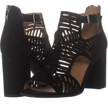 Franco Sarto 747 Mule Sandals, Black 463, Black, 9.5 US - $26.87