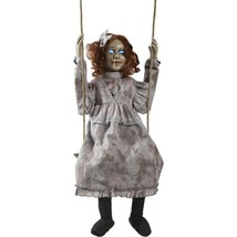 Swinging Decrepit Doll Animated Halloween Decoration creepy scary - $178.97