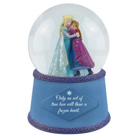 Walt Disney's Frozen Elsa and Anna Act of True Love 100mm Water Snow Globe, NEW