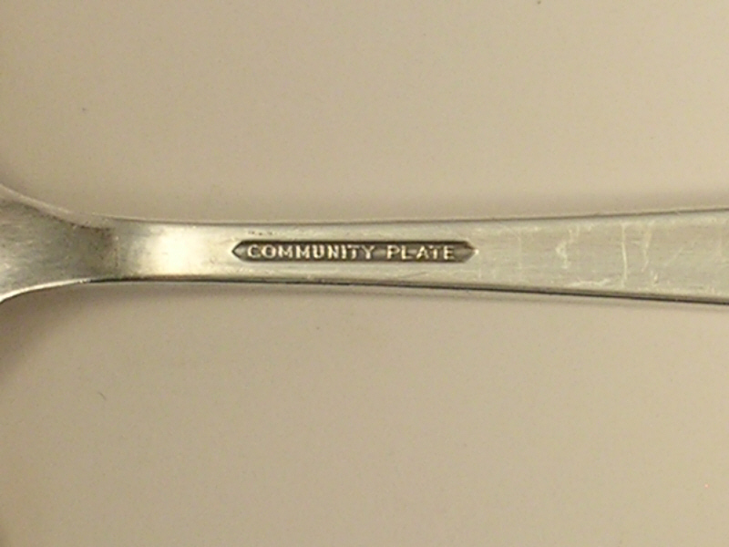 Community Silverplate Teaspoon in the Coronation 1936 Pattern