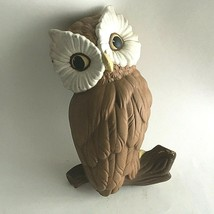 "Vintage Ceramic Hand Painted Owl Mid Century Wall Decor 10"" X 6"" X 3.25"" - $11.68"