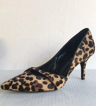 Nine West Womens Kimery Genuin Calf Hair D'Orsay Pump Leopard 6M - $37.13