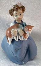 Retired 1996 Vintage Lladro Porcelain Figurine My Chubby Kitten #6422 Gi... - $62.50