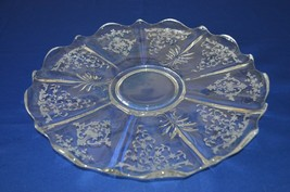 "Fostoria Navarre Baroque Torte Plate 14"" #2496 - $19.80"