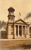 First Christian Church San Jose California Vintage Post Card - $5.00