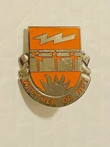 US Military 26th Signal Battalion Insignia Pin - Weather or Not - $10.00