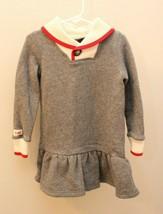 Ralph Lauren 4T Girl Gray Sock Monkey Dress Long Sleeve HOLIDAY - $23.73