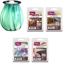 Better Homes and Gardens Tidepool Art Glass Warmer and Wax Gift Set - $47.81