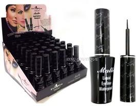 Italia Deluxe Matte Black Liquid Eyeliner  Waterproof Liquid Eyeliner Mu... - $4.64
