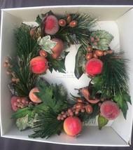 "NIB Pier 1 like Pottery Barn 17"" Sugar Fruit Wreath Couronne RARE Retire... - $44.99"