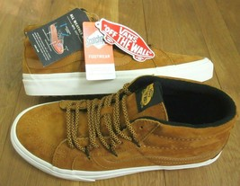 Vans Mens Sk8-Mid Reissue MTE All Weather Sudan Brown Skate shoes Size 1... - $67.31