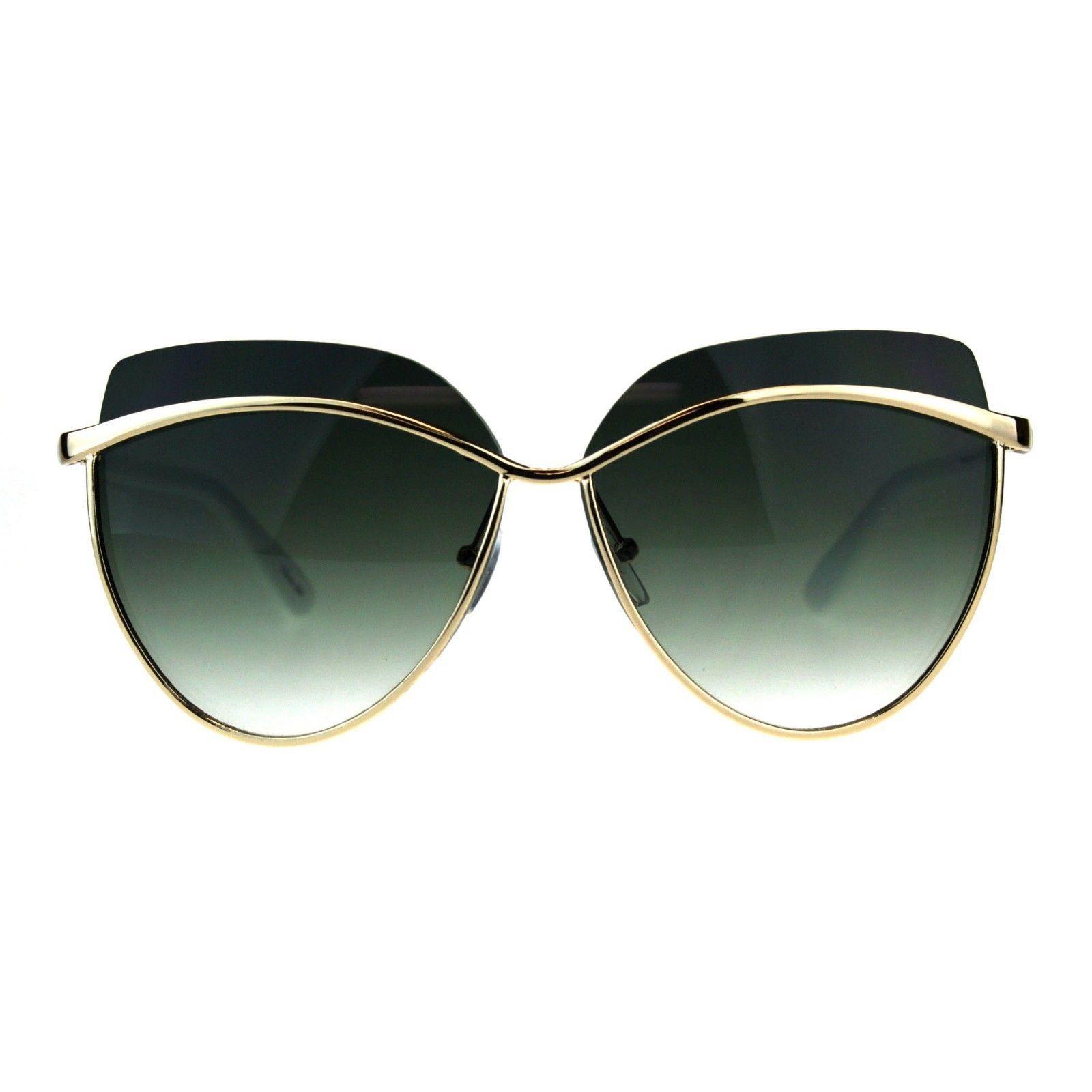 Womens Sunglasses Unique Overlap Lens Designer Style Shades UV 400