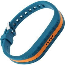 BLACKWEB* Adjustable FITBIT FLEX 2 Buckle BAND Replacement BLUE+ORANGE S... - $6.39