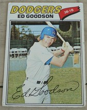 Ed Goodson, Dodgers, 1977, #584 Topps Card, VG COND - $0.99
