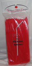 Straws Flex / Flexible Drinking Straws - Red - Luau - Wedding Reception ... - €7,11 EUR+