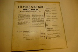 Mario Lanza - I'll Walk With God- 1st Mono Press RCA 2607 Vinyl Record 1962 - $0.99
