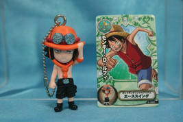 Bandai One piece Swing King P2 Gashapon Mini Figure Keychain Portgas D Ace - $16.99