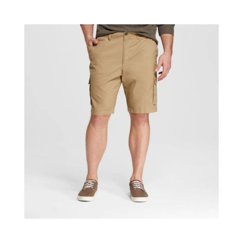 New Merona flat front khaki beige stretch shorts 38 or 42