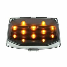 United Pacific 37122 12 LED Harley Front Fender Tip Light - Amber LED/Smoke Lens - $26.39