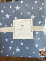 Pottery Barn Kids Star Shower Curtain Blue 72 sq Fabric NIP - $40.27