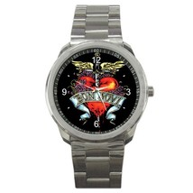 Bon Jovi Logo Custom Sport Metal Men Watch  - $15.00