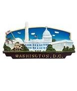 National Mall Rectangular Magnet: Landmarks with Brown Base - Washington... - $6.99