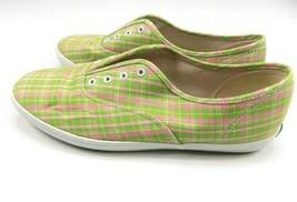 Keds Women's Pink Green Plaid Canvas Tennis Shoes Size 10 - £12.82 GBP