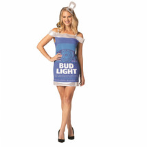 Bud Light Beer Can Dress Costume Blue - $44.98