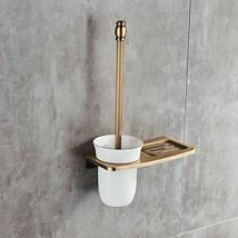 Luxury Toilet Brush Holder Bathroom Shelve Bowl Clean Bathroom Accessori... - $36.39