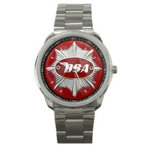 BSA Motorcycle Logo Custom Sport Metal Men Watch  - $15.00